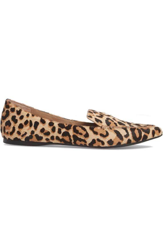 5e50858ed37 Steve Madden Feather-L Genuine Calf Hair Loafer Flat (Women ...