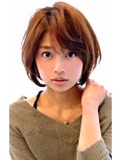 30代 40代人気 ひし形ショート黒髪でも可愛く決まる ヘアスタイル ヘアカット 髪型