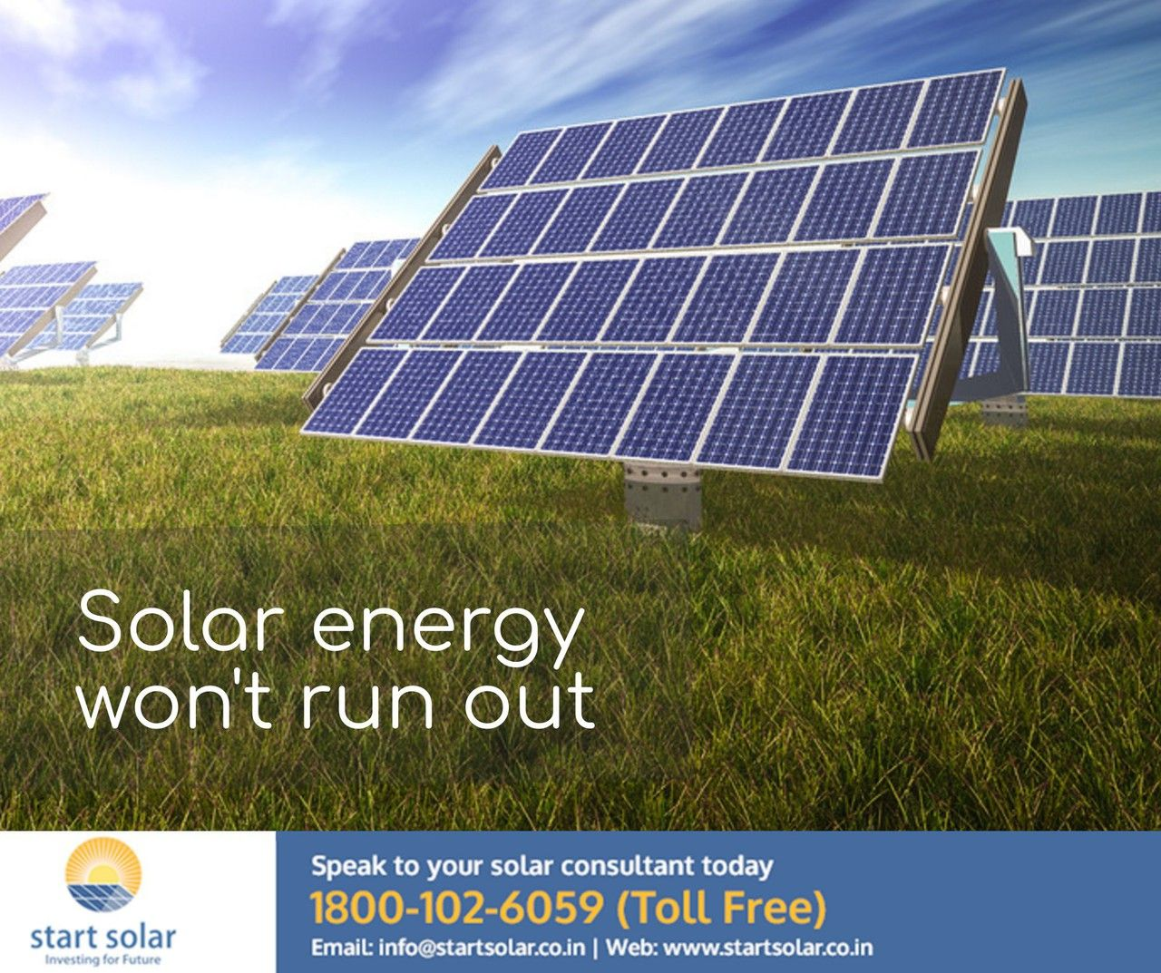 Solar Energy Won T Run Out Startsolar Contact With Our Solar Consultant Today Solarpower Renewableenergy Solarpanel Solar Solar Solar Panels Solar Energy