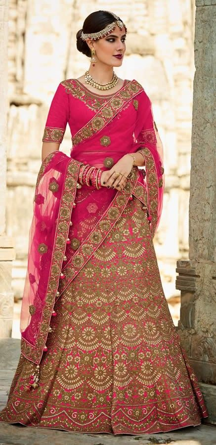 db6795d308098f Designer Rani Colour Mastani Silk Embroidery Work Wedding Wear Lehenga Choli