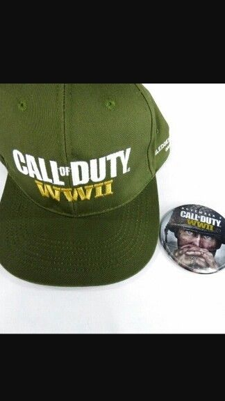4885c7334 Call Of Duty World War 2 WW2 Snapback Hat   Pin Gamestop Limited ...