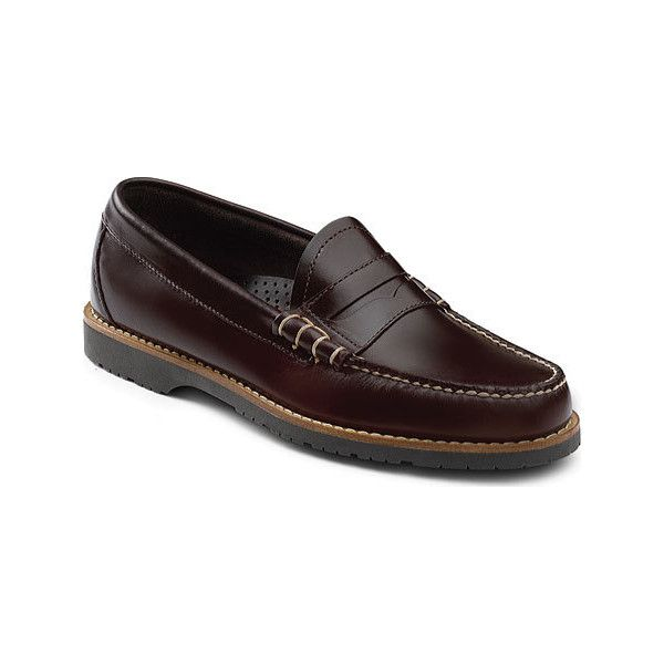 Men's G.H. Bass & Co. Simon Loafer - Burgundy Leather Casual ($80) ❤ liked on Polyvore featuring men's fashion, men's shoes, men's loafers, burgundy, casual, slip-on shoes, mens woven leather slip-on shoes, mens loafer shoes, mens leather shoes and mens slipon shoes