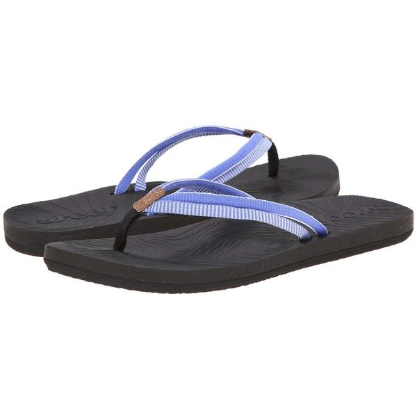 Reef Double Zen Women's Sandals, Black ($20) ❤ liked on Polyvore featuring  shoes