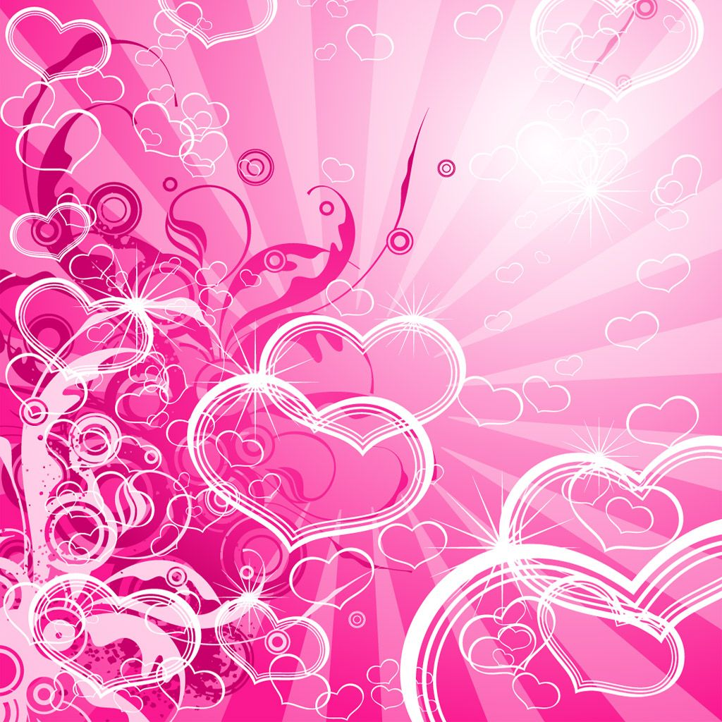 Love Heart Design Wallpaper : Pretty Pink Backgrounds ... - Abstract Pink Hearts Layout iPad Wallpaper, Background ...