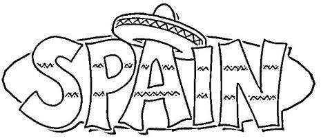 Spain Coloring Page Super Coloring Flag Coloring Pages Coloring Pages Super Coloring Pages