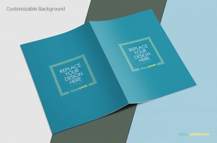 awesome free a4 brochure mockup that can be used for presenting