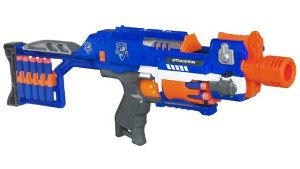 This is one of the best nerf guns out there. It's old-school in that is  still has the more powerful direct-plunger style system. They stopped  selling them ...