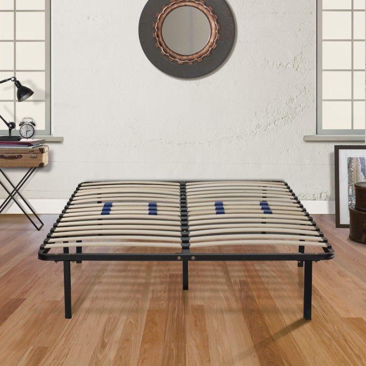 Details About King Size Metal Bed Storage Frame Wood Adjustable