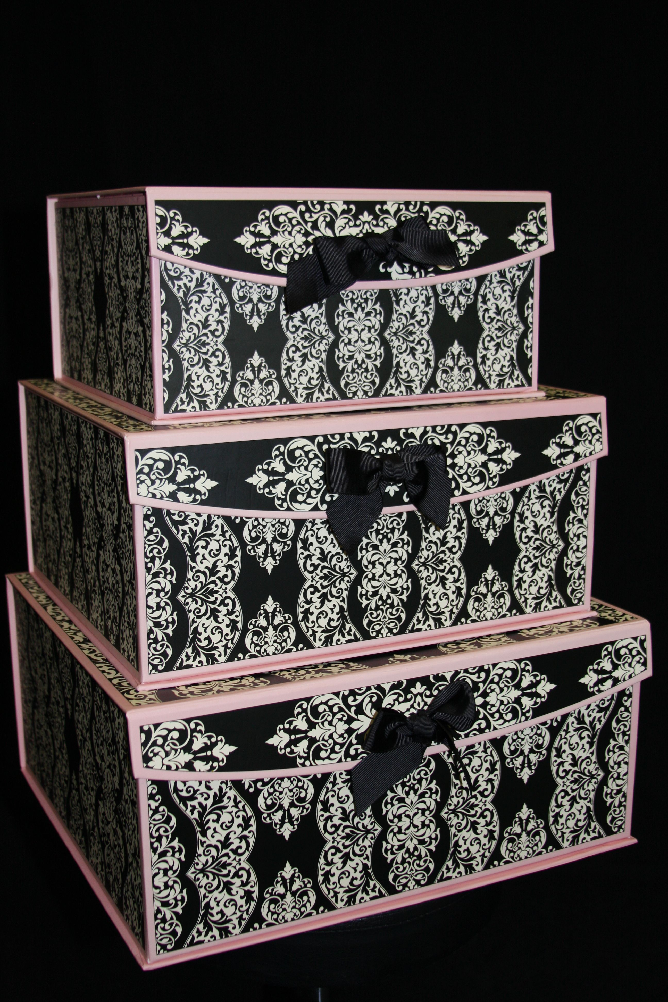 Use Pretty Storage Boxes In Closet Or Bedroom For Belts, Scarves, Lingerie,  Etc