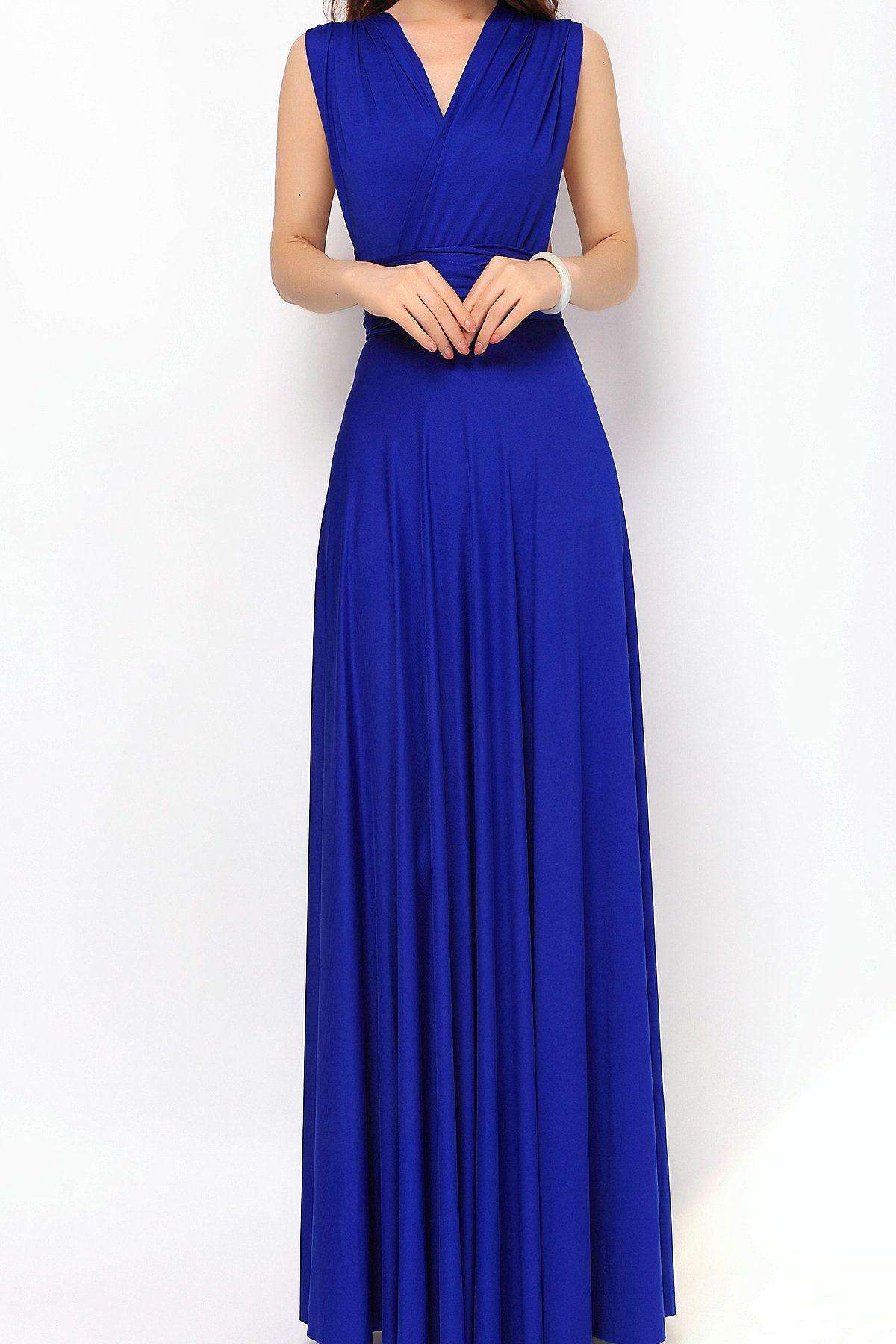 64369ea64c7 Royal Blue Maxi Bridesmaid Dresses Infinity Dress Convertible Dr  lg-23  -   73.80   Infinity Dress