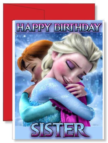 Personalized Birthday Greeting Card Disney Movie Frozen Sisters Birthdaycard Greetingcard Gift Gifts Cards Kids Toddler Personalizedgifts