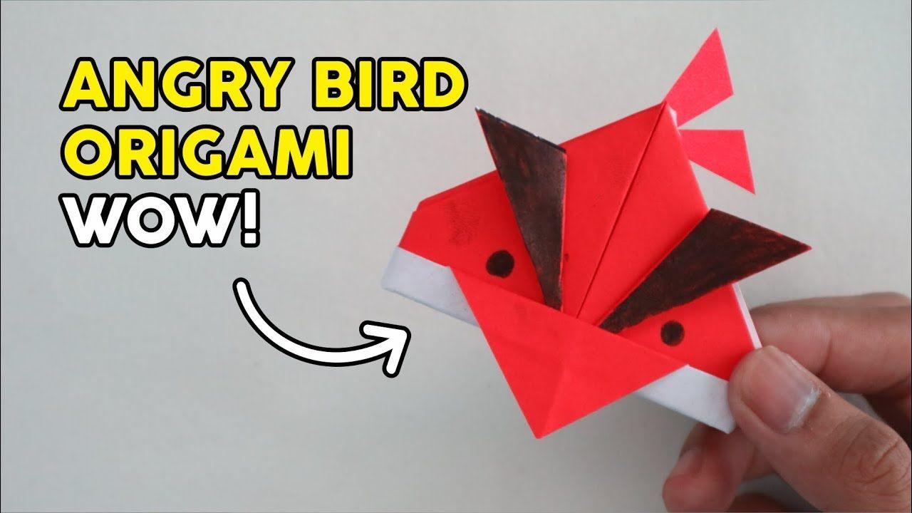 Lucu Membuat Angry Bird Dari Kertas Origami How To Fold Paper Easy Kertas Origami Origami Kertas