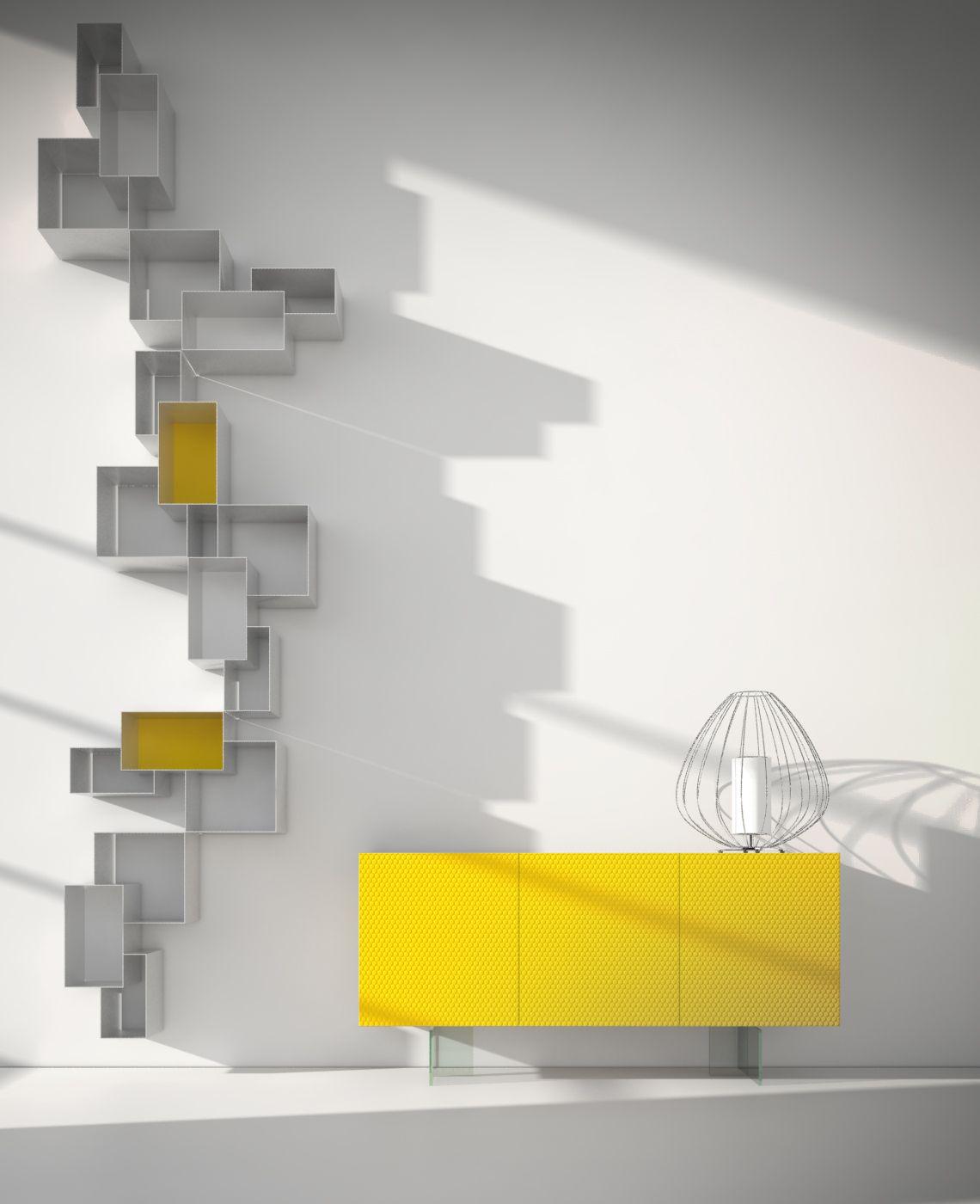 Credenza Moderna Colorata.Credenza Moderna Gialla Modernlivingroom Sideboards