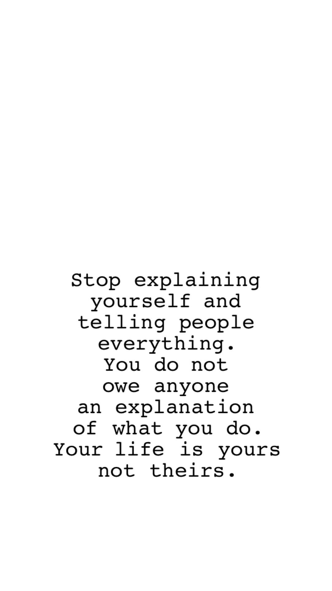 Just keep on doing your own thing, darling.
