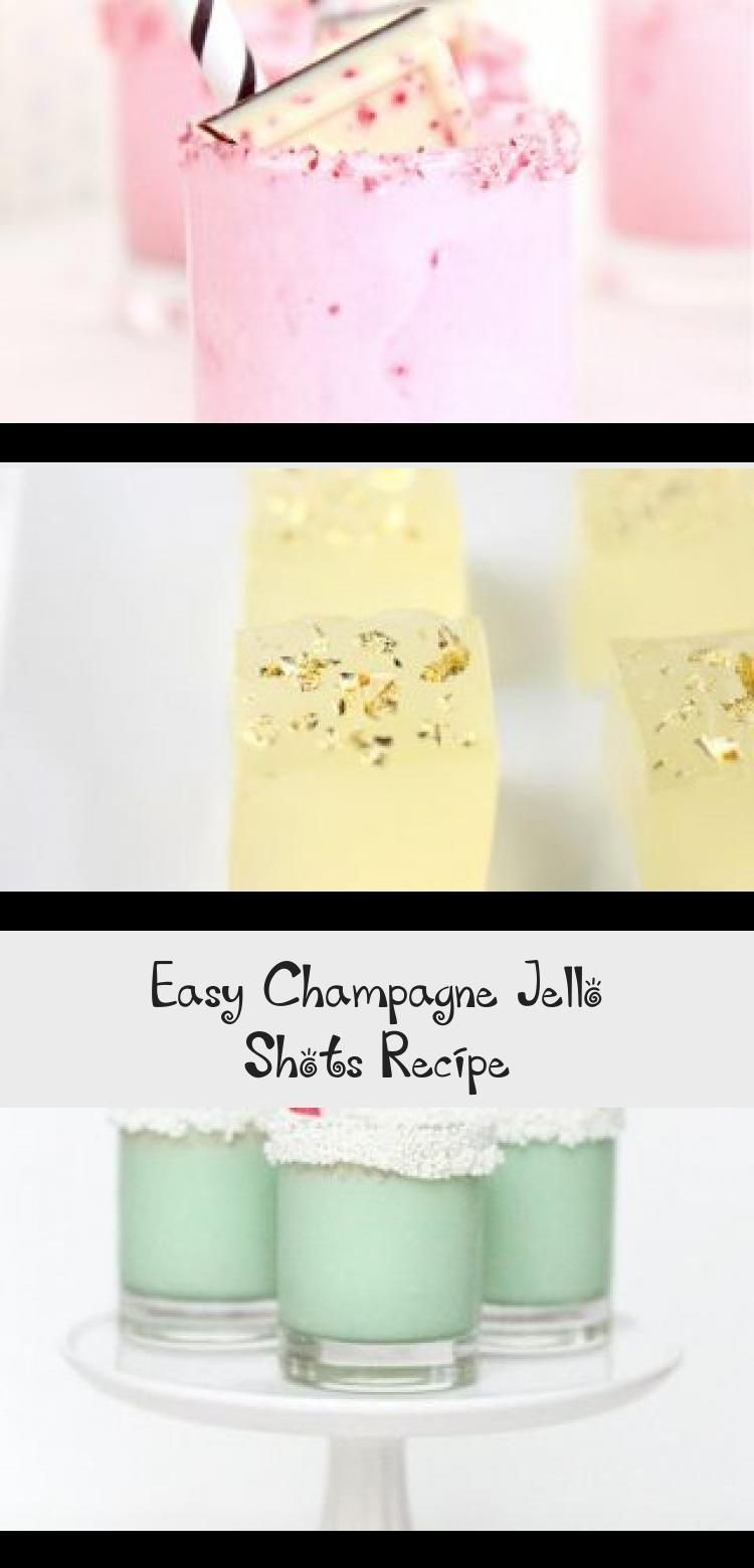 Easy Champagne Jello Shots Recipe #jelloshotsvodka Sugar & Cloth - Sharing how to make jello shots with this super easy champagne jello shot recipe! You can easily customize this recipe to be make with vodka, rum, or tequila. They're perfect for mixing up for holidays! Halloween, Christmas, new years, you name it! #recipe #easy #jello #shots #cocktails #recipenewyear #halloweenjelloshots