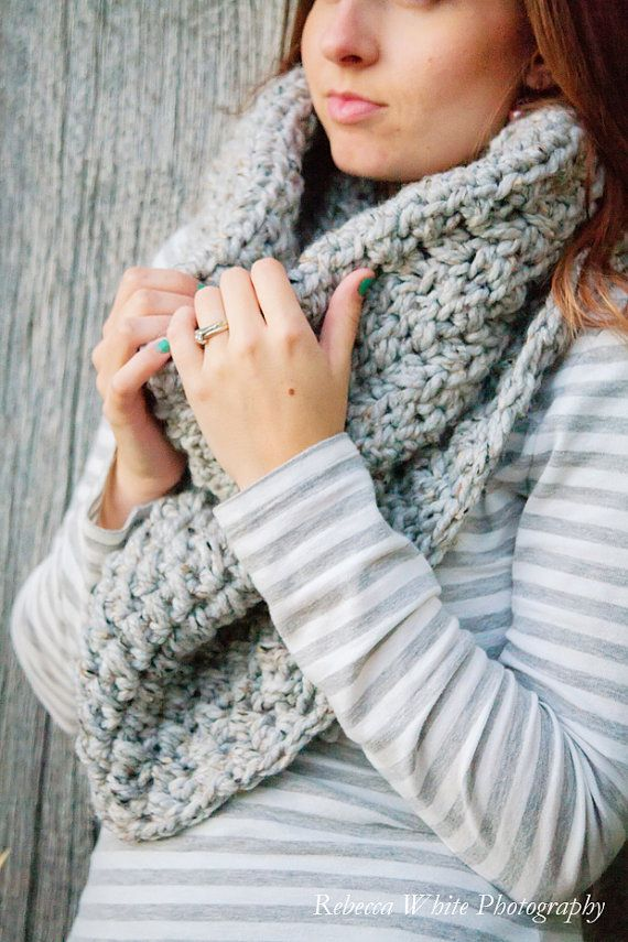 Instant Download - CROCHET PATTERN PDF - Crochet Infinity Scarf ...