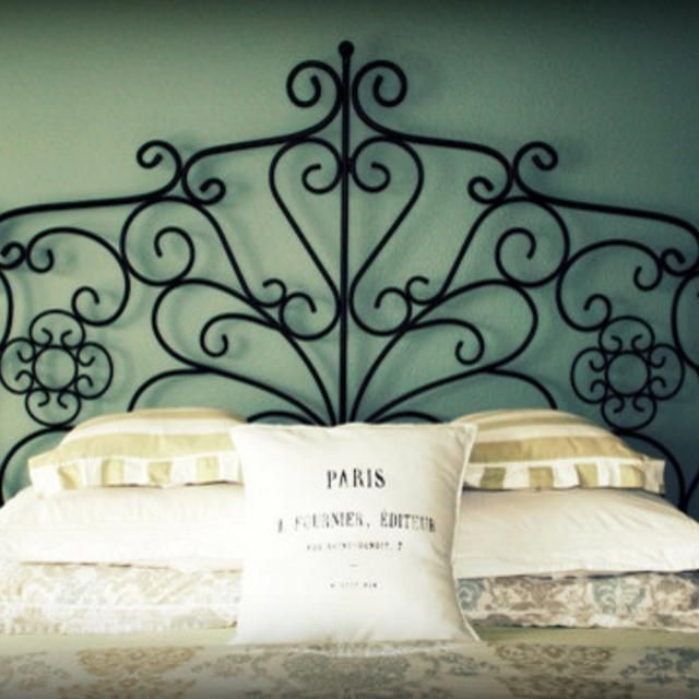 Ikea Manger Wrought Iron Headboard Folds In Half Discontinued Iron Headboard Bedroom Headboard Headboard Designs