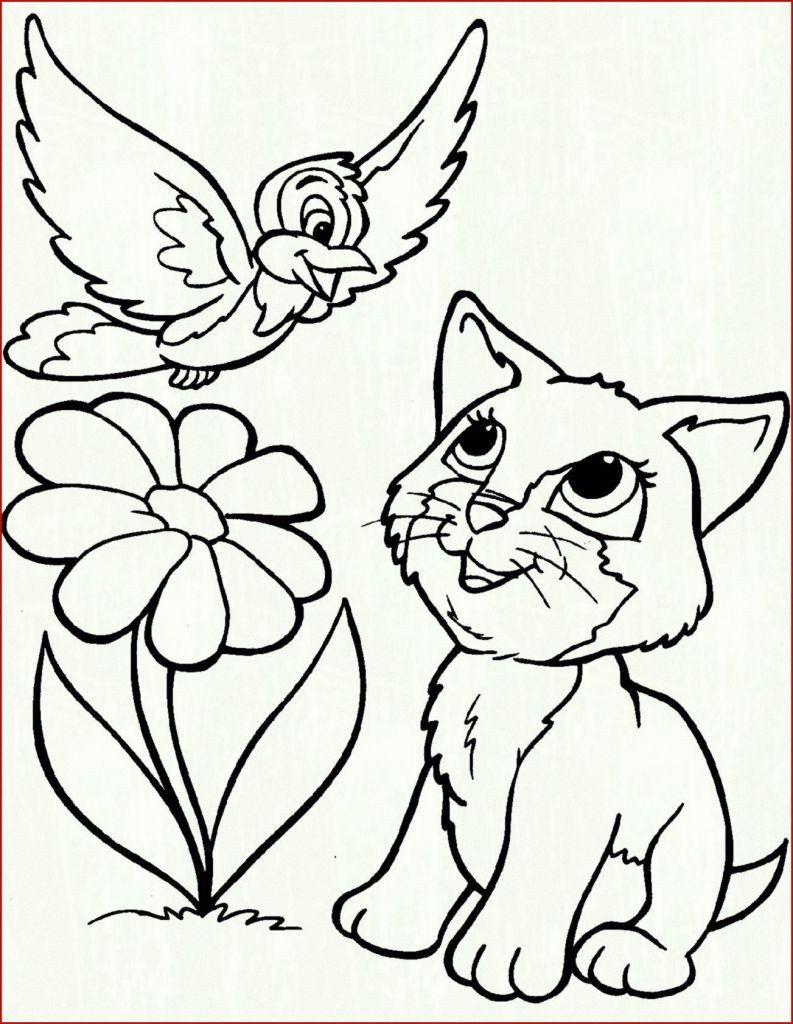Kitty Cat Coloring Pages Fresh Coloring 55 Phenomenal Cat And Dog Coloring Pages Picture In 2020 Bird Coloring Pages Cat Coloring Page Kittens Coloring