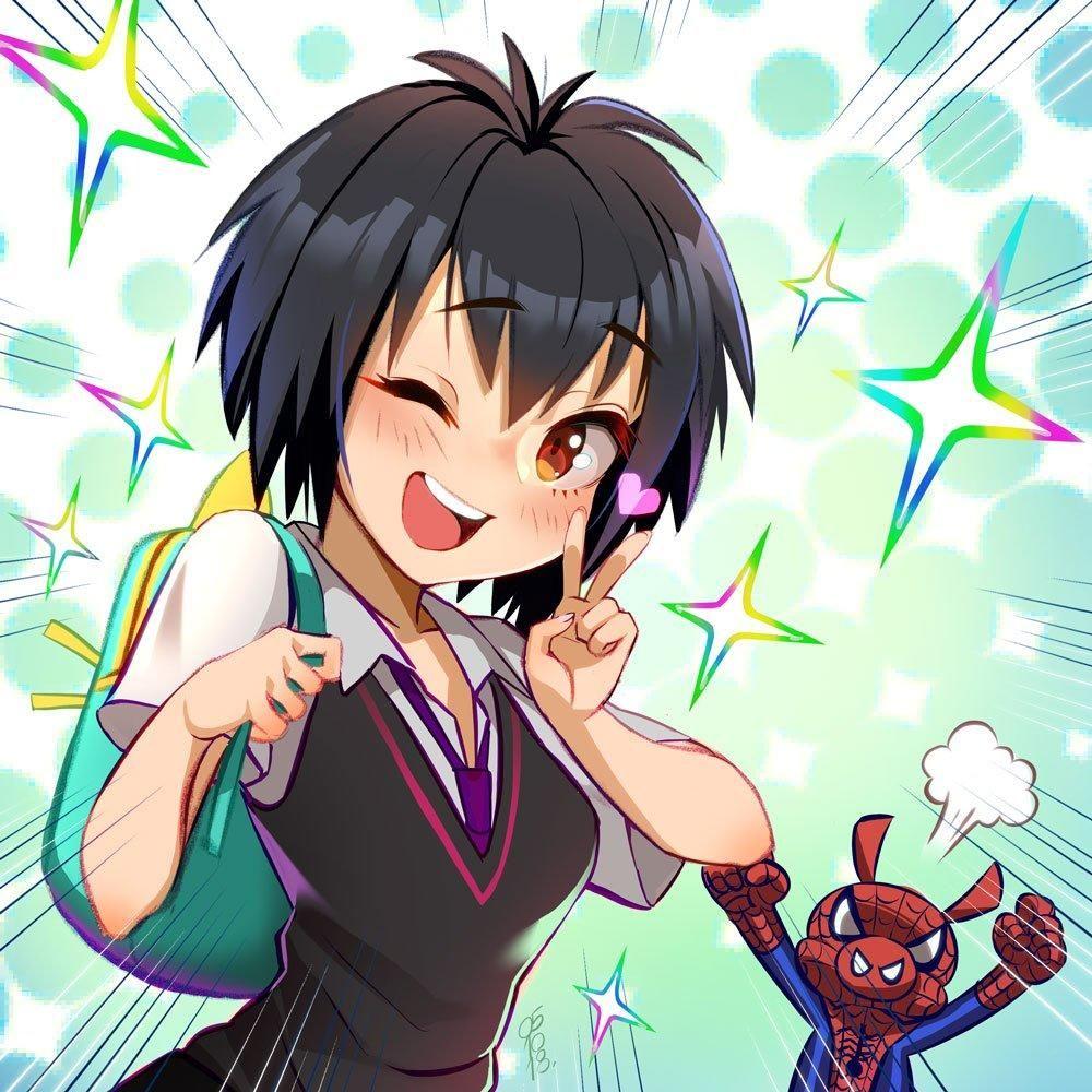 Bless Her Spiderman Art Marvel Art Anime