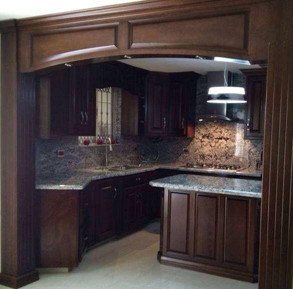 Cocina moldura de madera / marco | Cocinas | Pinterest | Molduras de ...