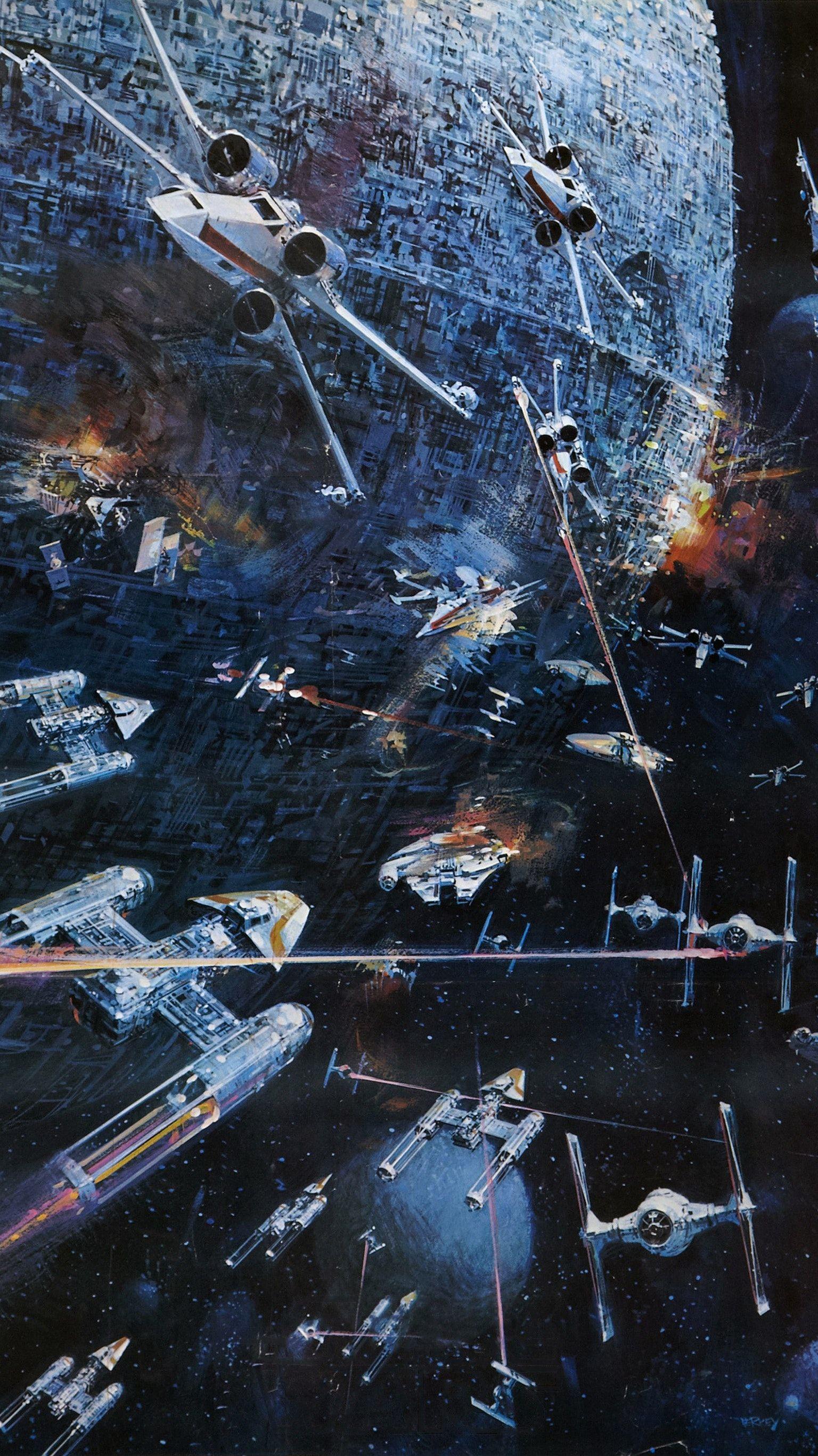 Star Wars 1977 Phone Wallpaper Moviemania Star Wars Poster Star Wars Artwork Star Wars Wallpaper