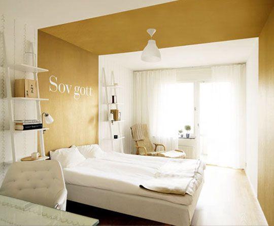Make A Room Seem Bigger Use Metallic Paints Gold Bedroom Gold