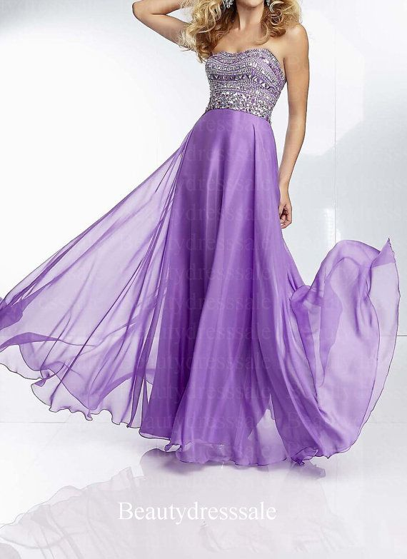 7191047f7 Lavender prom dress, Long prom dress, Strapless prom dress,Elegant chiffon  dress,Pink prom dress,Homecoming dress,Cocktail dress