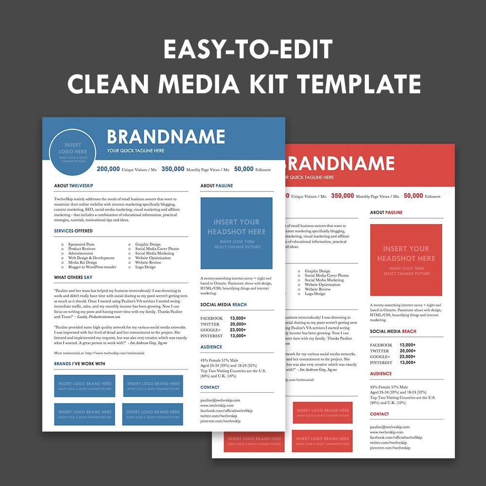 Press P Template | Media Kit Screen4 Media Kit Template Marketing Ideas Pinterest