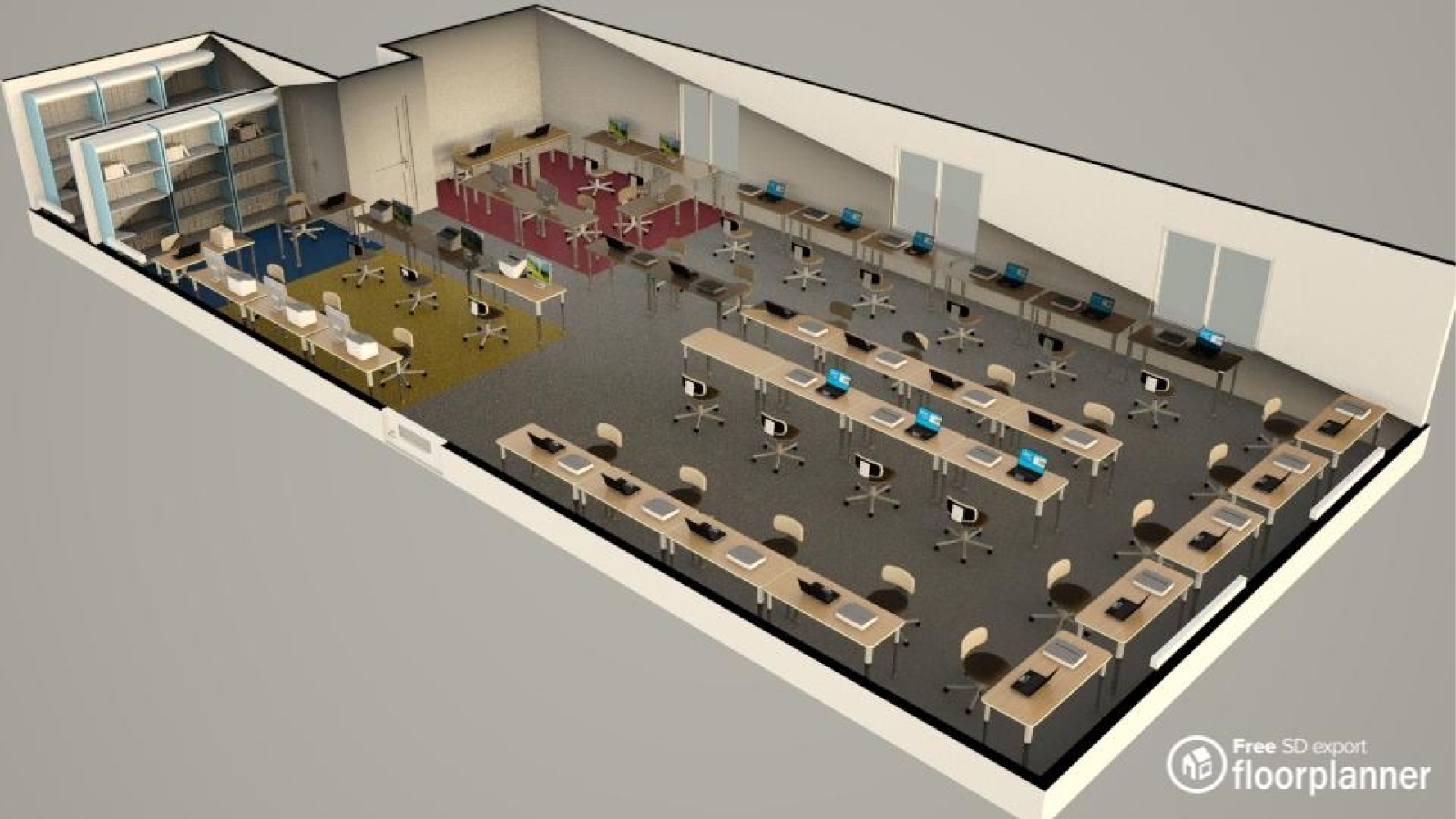 Office Layout Made With Floorplanner Com In 2020