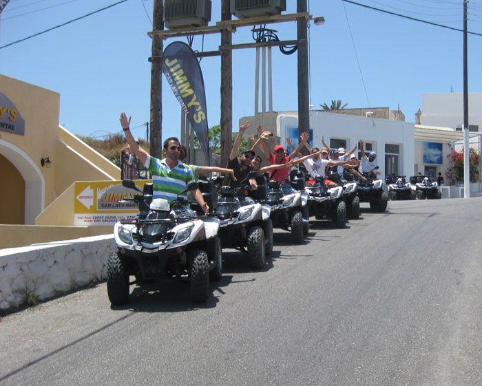 Its Always Fun Riding An ATV At Jimmys Car Rental Santorini - Cool cars santorini