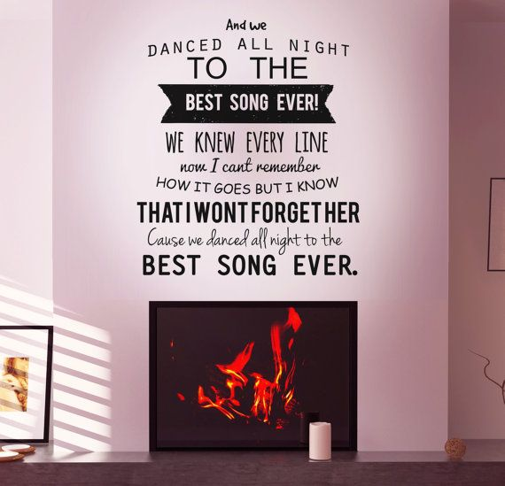 Delicieux Lyrics Wall Decal By One Direction