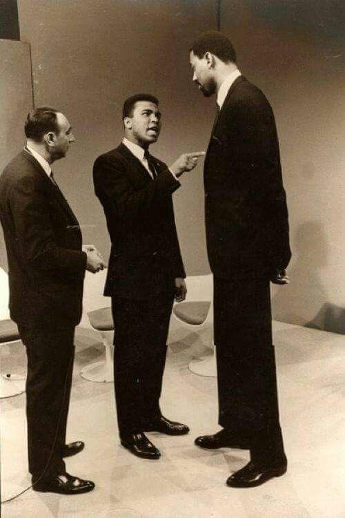 Howard Cosell, Muhammad Ali and Wilt Chamberlain...