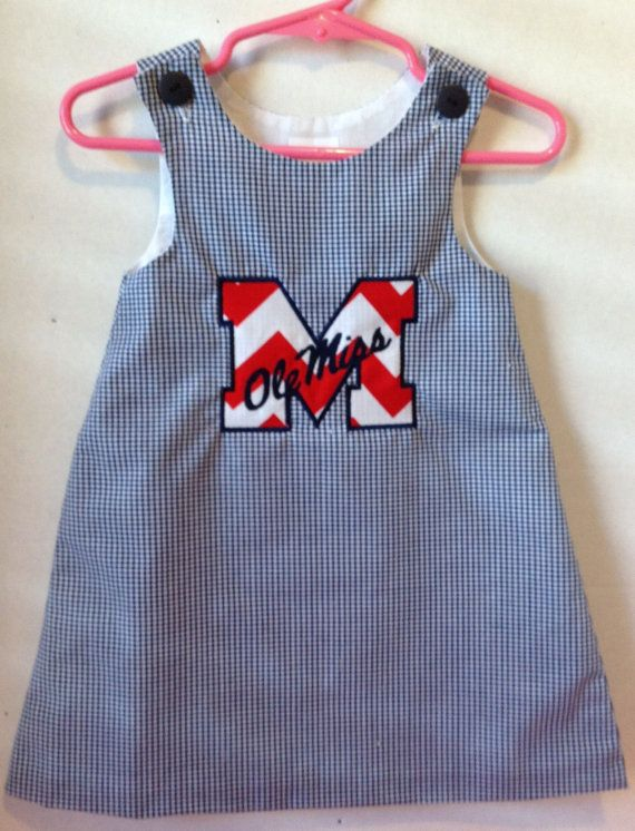 Ole Miss, gingham A-Line, fully lined dress on Etsy, $36.00