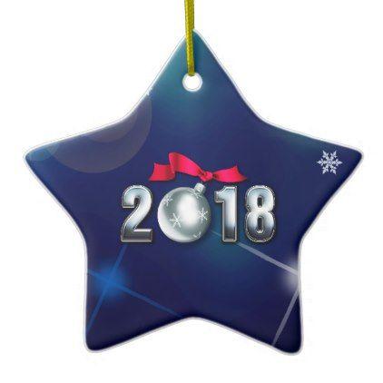 Happy New Year 2018 Christmas Star Ornaments   merry christmas diy
