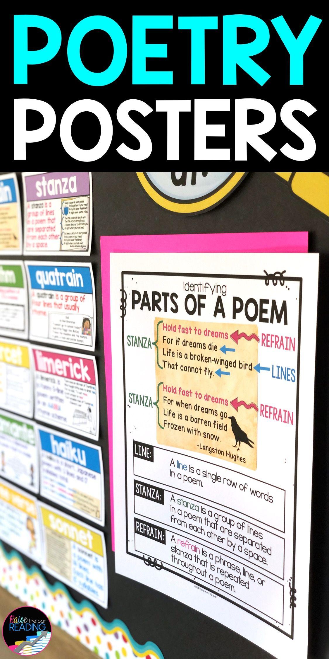 Poetry Posters Poetry Bulletin Board In