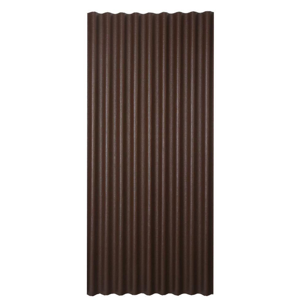3 ft. x 6.5 ft. Corrugated Asphalt Roof Panel in Brown