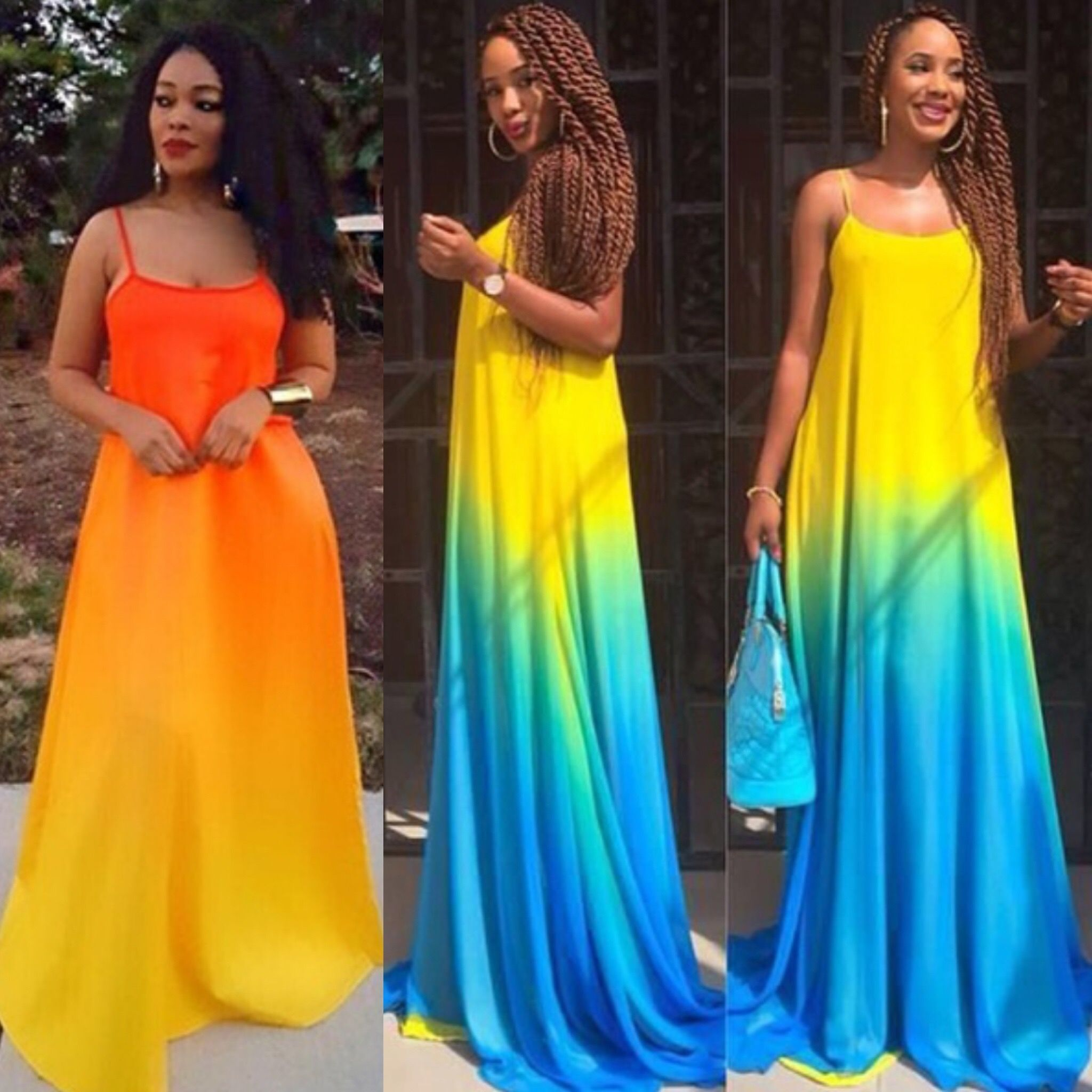 Two Tone Maxi Dress Colors Blue Yellow Orange Yellow Sizes S M L Xl 46 99 Free Shipping Call 469 571 3 Ombre Maxi Dress Maxi Dress Womens Maxi Dresses [ 2048 x 2048 Pixel ]