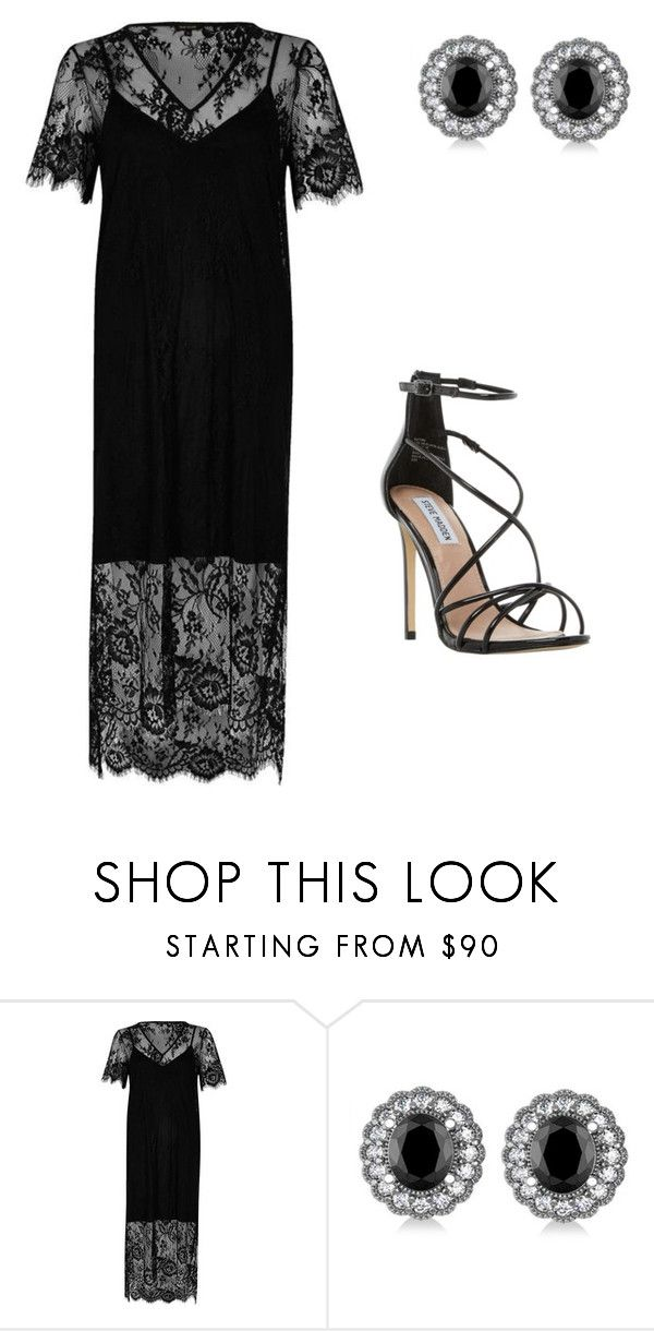 """Sans titre #994"" by stalialightwood ❤ liked on Polyvore featuring River Island, Allurez and Steve Madden"