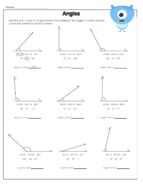 Measuring Angles Worksheet 2 Pinterest Free