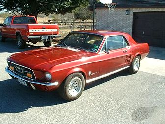 ford 1967 mustang cherry red - Red 1967 Ford Mustang Coupe