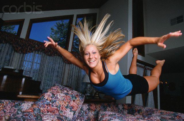Trampolinist Jennifer Parilla  Photographer:Neal Preston