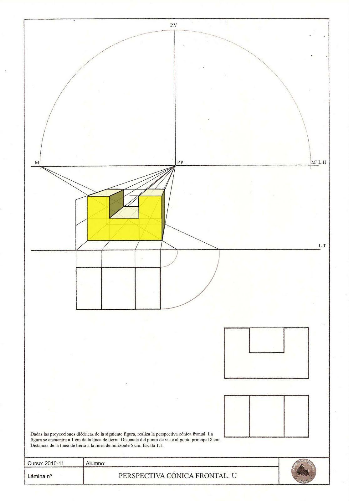Lamina 23 Tecnicas De Dibujo Perspectiva Ejercicios De Dibujo
