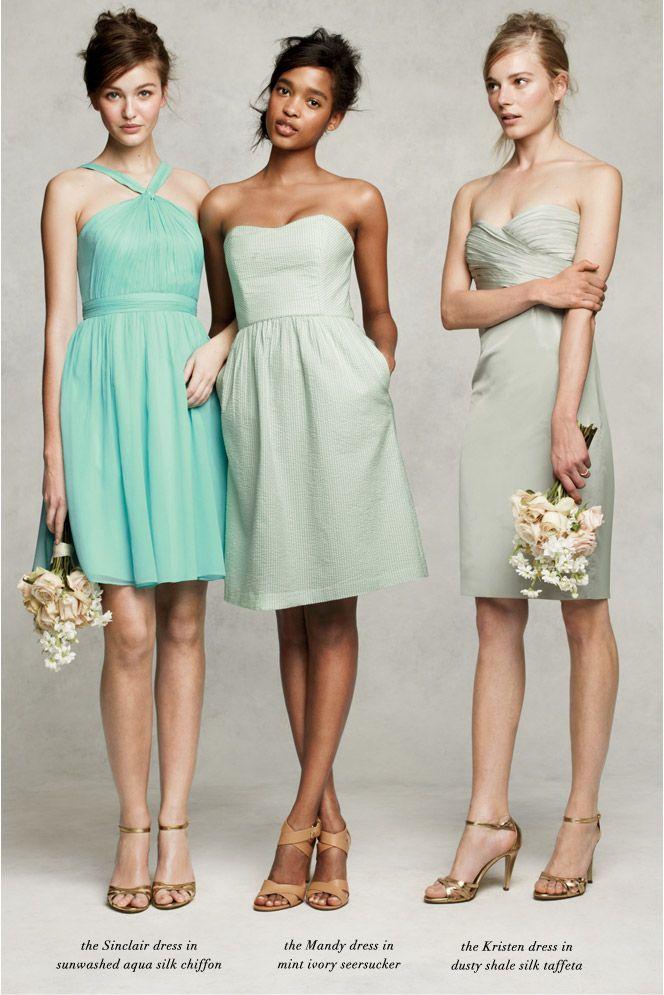 Jcrew Com Dresses And Beautiful Bridesmaid Bouquets Mint Bridesmaid Dresses Amazing Wedding Dress Wedding Dresses