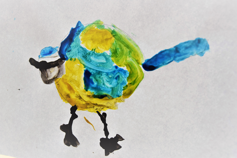 Pimpelmees Vogels Schilderen Met Kleuters Groep 1 2 Thema Vogeld In De Winter Juf Ester Klaver Vogels Thema Schilder