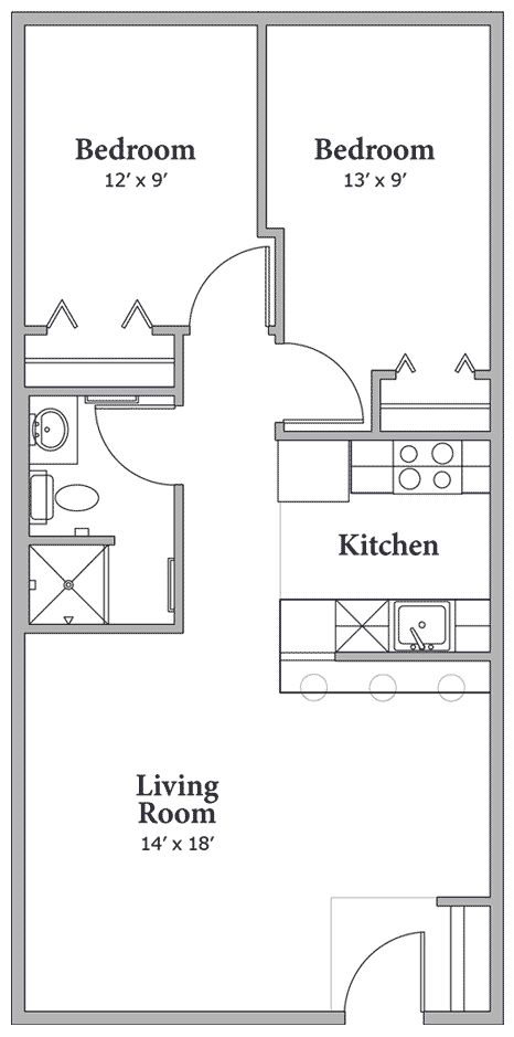 Tiny Home Designs: Floorplan-2bdrm - 750 Sq Ft