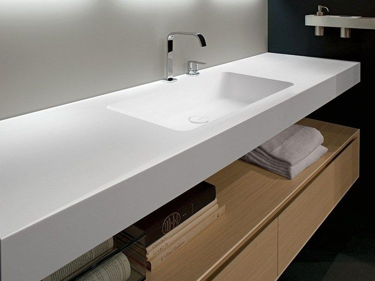 encimera de lavabo de corian arco by antonio lupi design. Black Bedroom Furniture Sets. Home Design Ideas