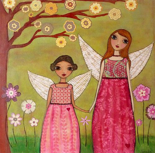 Sister Fairies Collage Art Painting by Sascalia   My new Mix…   Flickr
