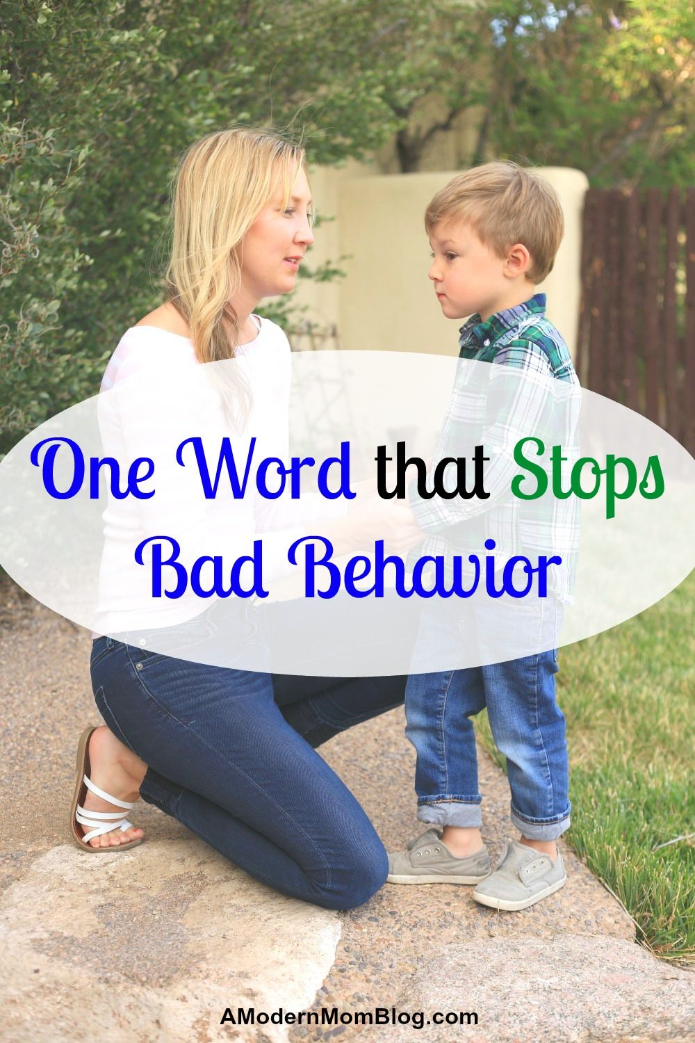 Bad Behavior - How to Quickly Intervene with One Simple Word #parenting