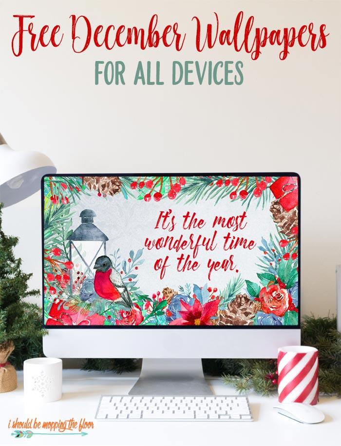 Free December Desktop Wallpaper For All Devices December Wallpaper Watercolor Desktop Wallpaper Wallpaper