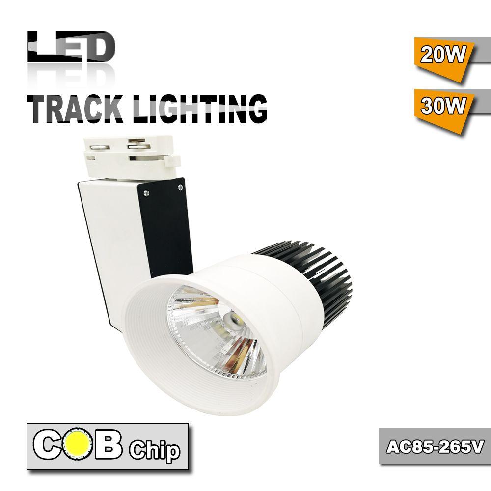 30w Cob Led Track Lighting As Shopping Mall Clothing Store Lighting Lamp High Quality Led Spotlight Track Lighting Ac85 265v Di 2020